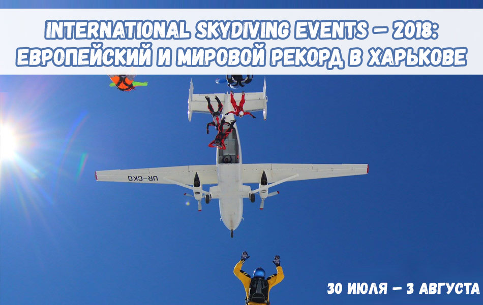 International Skydiving Events – 2018